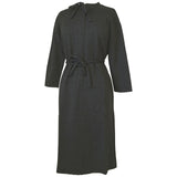 Black and grey herringbone 1960s unworn belted plus size mod dress