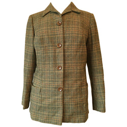 DAKS check wool ladies 1960s tweed jacket