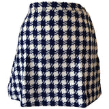 Petite vintage 1960s a-line navy and white check micro mini skirt - Vintage Clothing, Vintage Stock, Vintage Dresses, Vintage Shoes UK