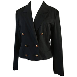Smart vintage 1980s Etam short black jacket