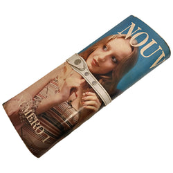 Novelty vintage 1970s Nouvelle Paris vintage fashion magazine clutch bag