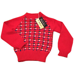 Soft red orlon vintage 1960s unworn babies jumper - Vintage Clothing, Vintage Stock, Vintage Dresses, Vintage Shoes UK