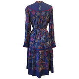 Phool India boho hippy 1970s floral belted day dress