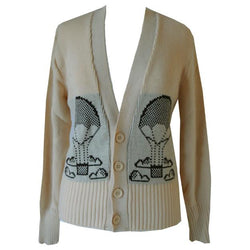 Hot air balloon novelty knit 1970s cardigan - Vintage Clothing, Vintage Stock, Vintage Dresses, Vintage Shoes UK