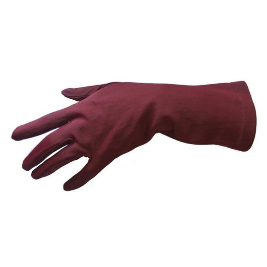 Claret nylon 1960s fleece lined gloves - Vintage Clothing, Vintage Stock, Vintage Dresses, Vintage Shoes UK