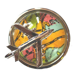 Globe Trotter vintage 1970s aeroplane brooch - Vintage Clothing, Vintage Stock, Vintage Dresses, Vintage Shoes UK