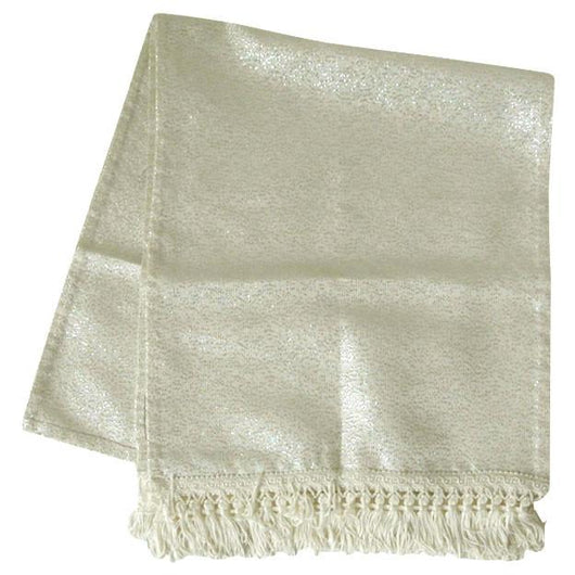Pearly white and silver lurex 1960s evening scarf - Vintage Clothing, Vintage Stock, Vintage Dresses, Vintage Shoes UK