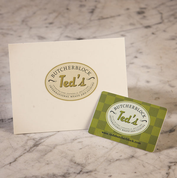 TED'S<br>GIFT CARDS