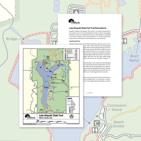 Lake Ahquabi State Park Trail Map Printable Download