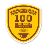 100th Anniversary Iowa State Park Sticker