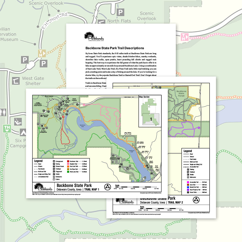 Backbone State Park Trail Map Printable Download