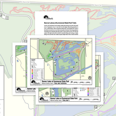 Banner Lakes at Summerset State Park Trail Map Printable Download