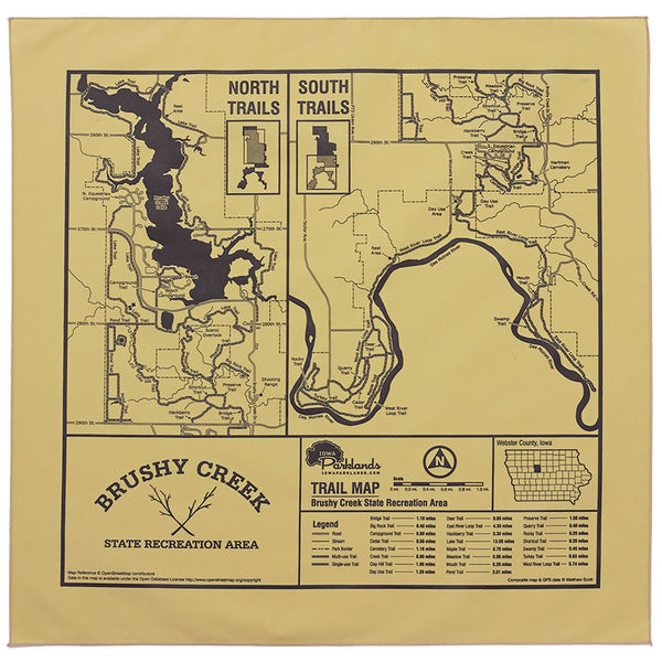 Brushy Creek State Recreation Area Trail Map Bandanna