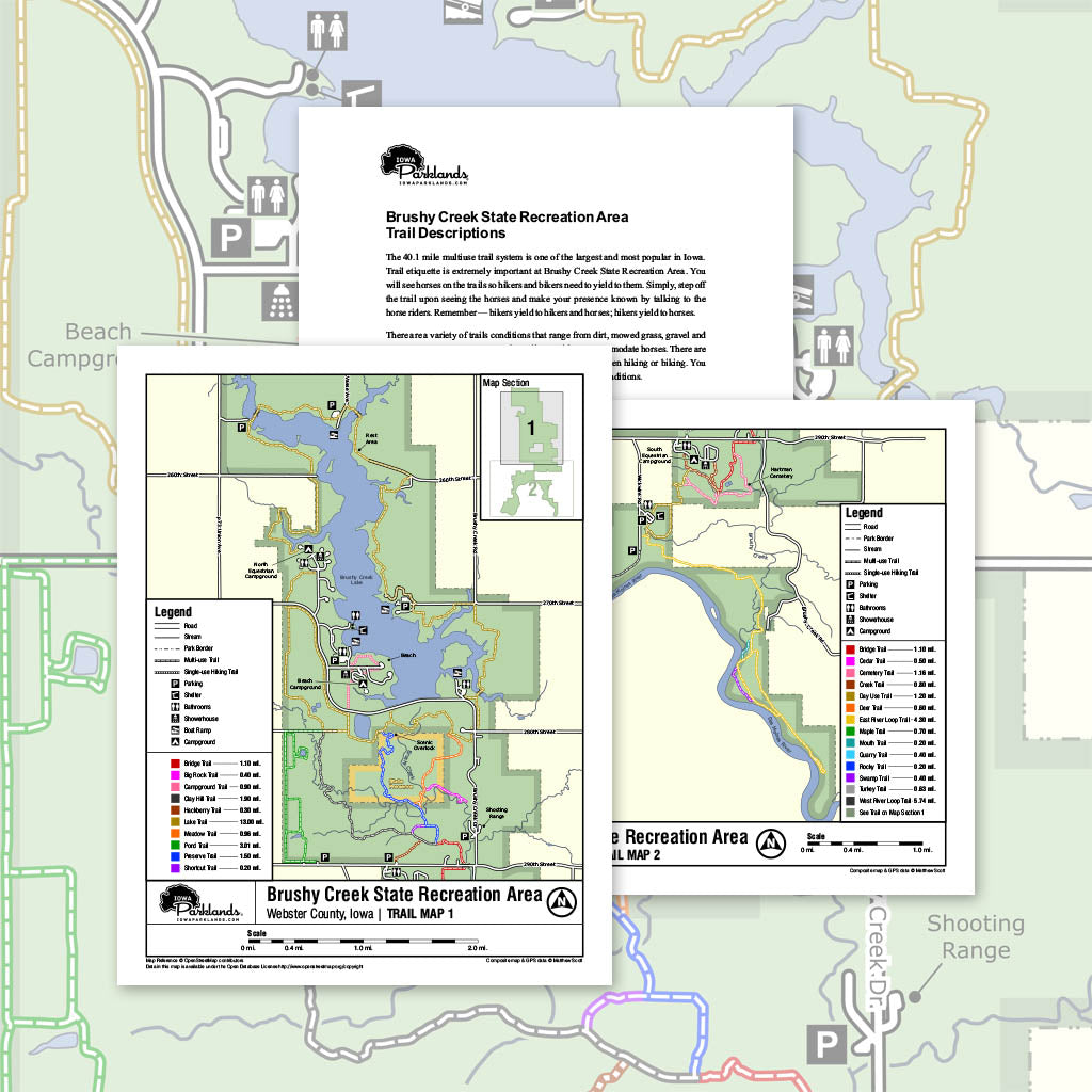 Brushy Creek State Recreation Area Trail Map Printable Download