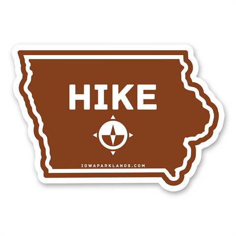 Iowa State Hike Sticker