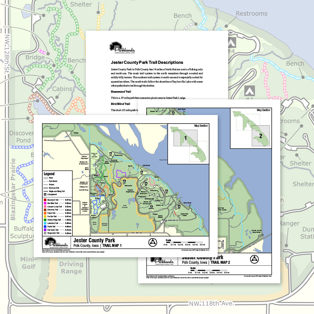 Jester County Park Trail Map Printable Download