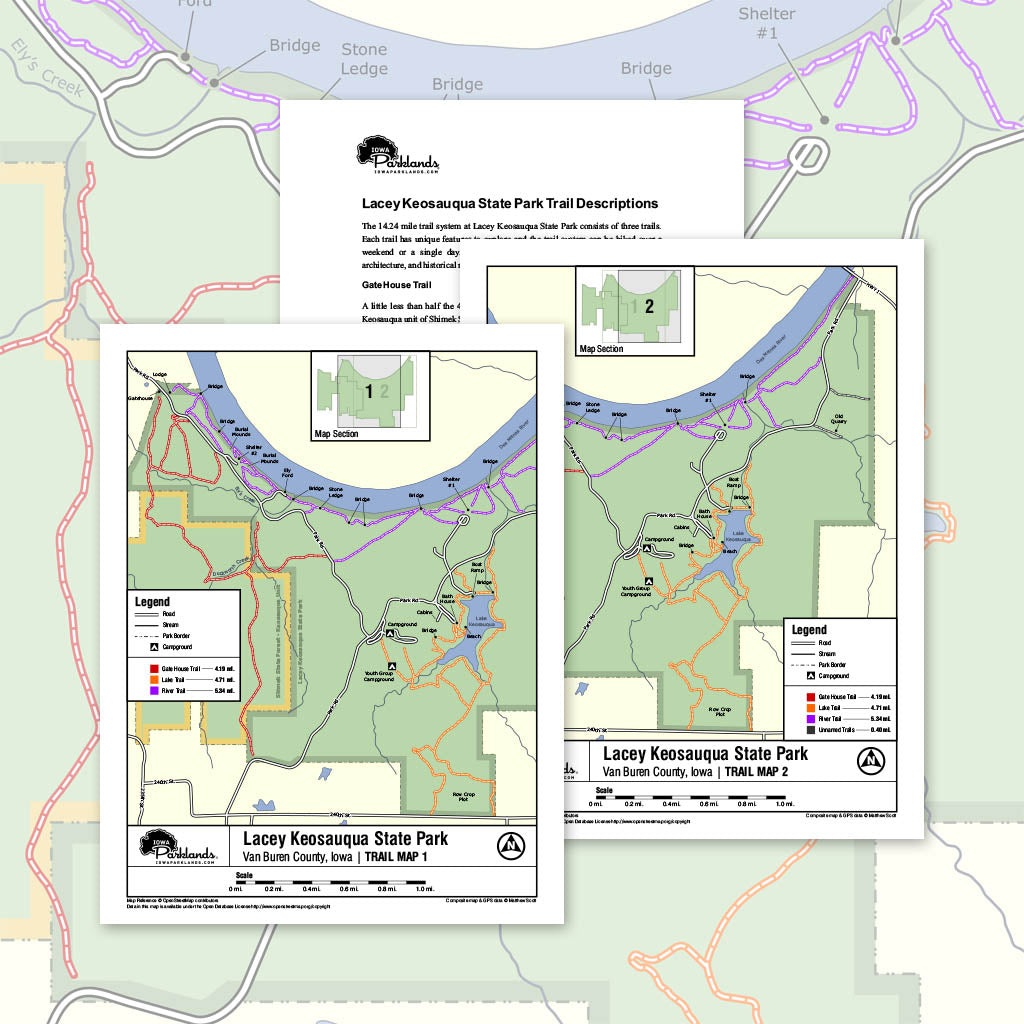 Lacey Keosauqua State Park Trail Map Printable Download