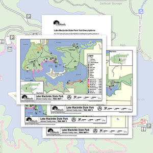 Lake MacBride State Park Trail Map Printable Download