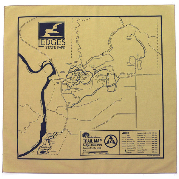 Ledges State Park Trail Map Bandanna