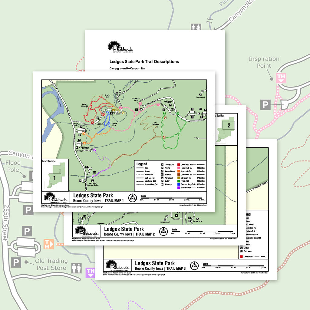 Ledges State Park Trail Map Printable Download