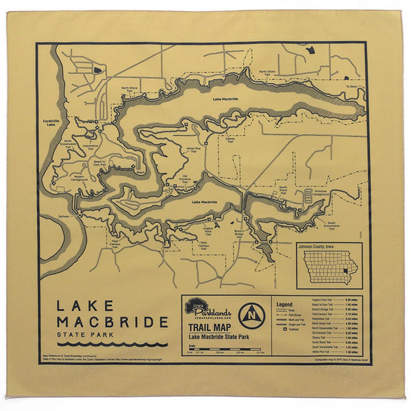 Macbride State Park Trail Map Bandanna