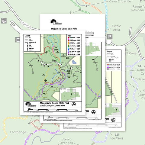 Maquoketa Caves State Park Trail Map Printable Download