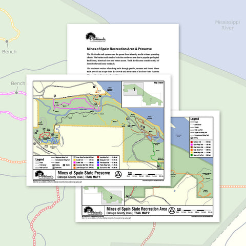 Mines of Spain State Recreation Area Trail Map Printable Download