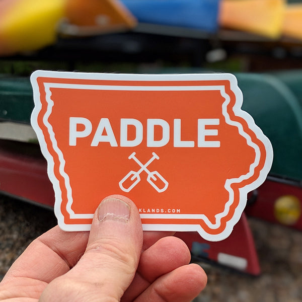 Iowa State Paddle Sticker