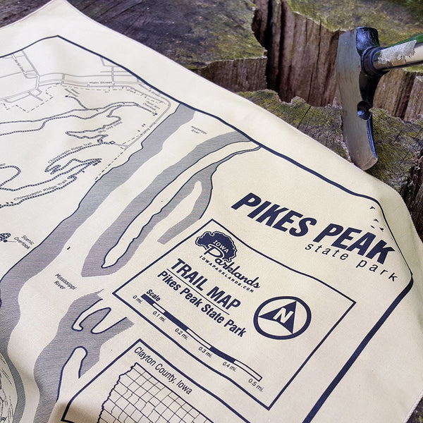 Pikes Peak State Park Trail Map Bandanna