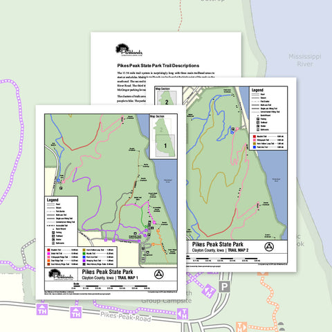 Pikes Peak State Park Trail Map Printable Download