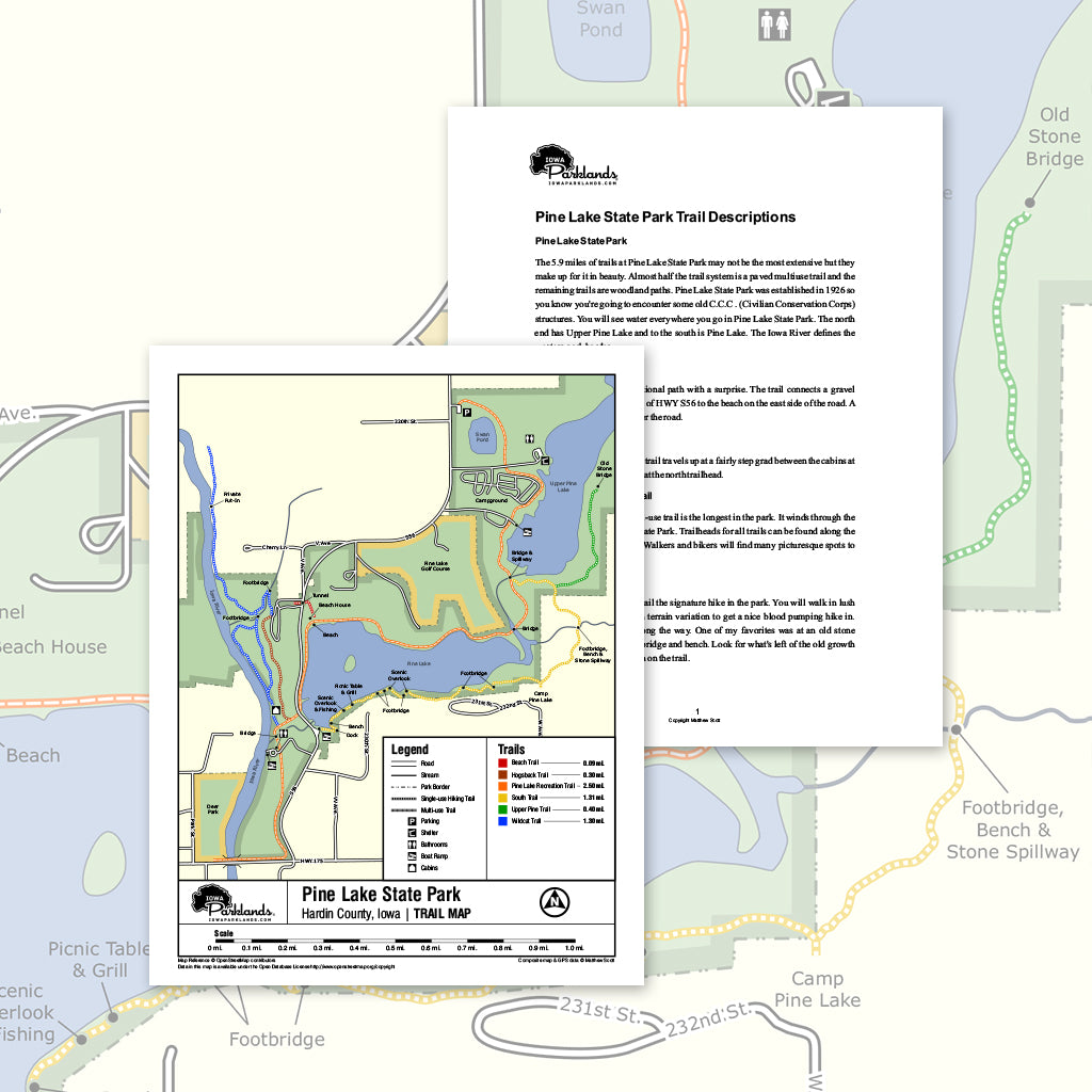Pine Lake State Park Trail Map Printable Download