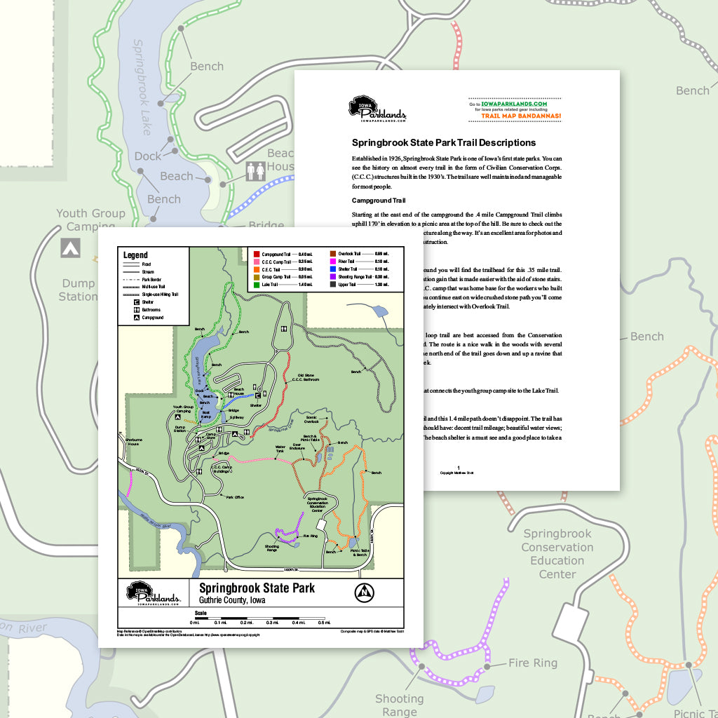 Springbrook State Park Trail Map Printable Download