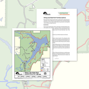 Viking Lake State Park Trail Map Printable Download