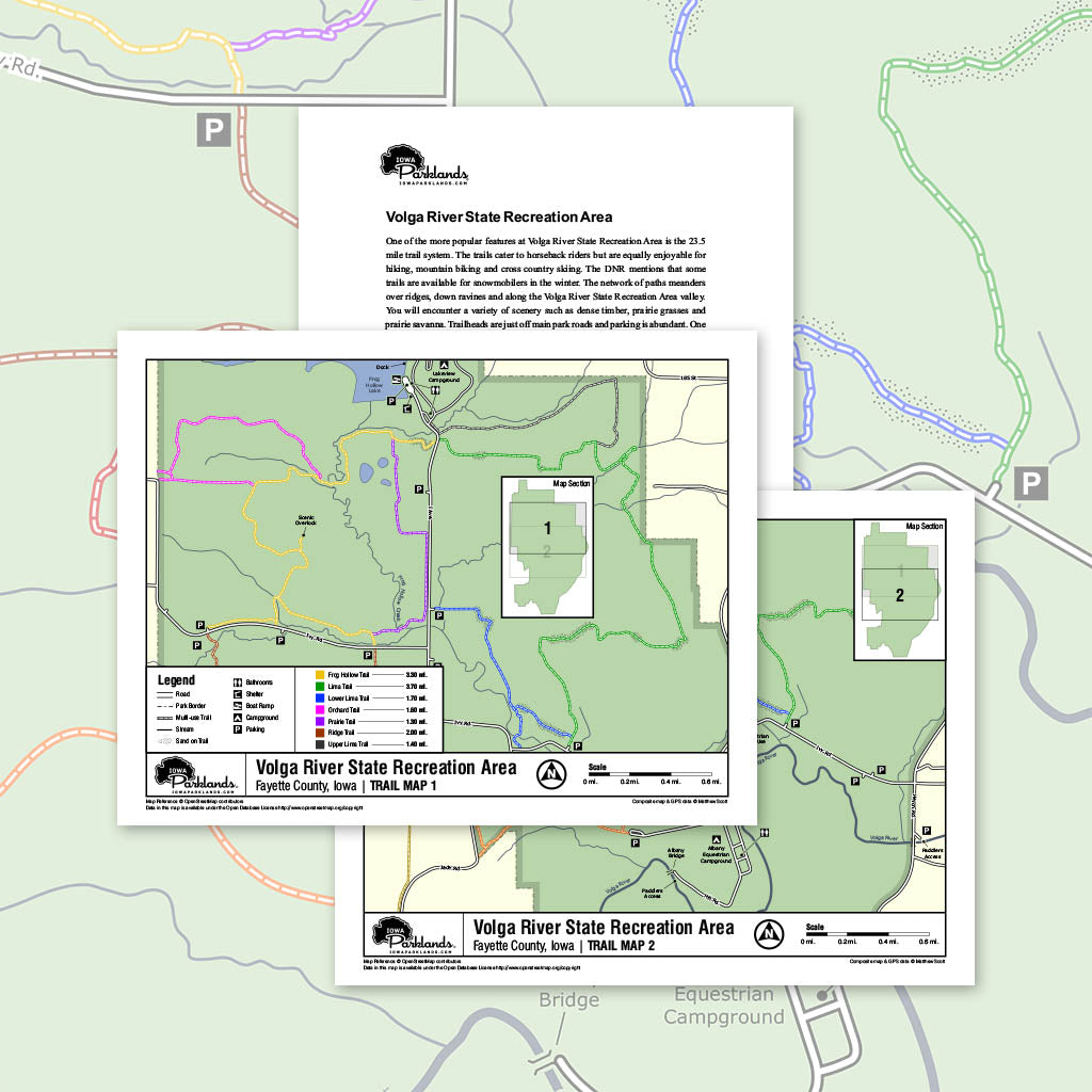 Volga River State Recreation Area Trail Map Printable Download