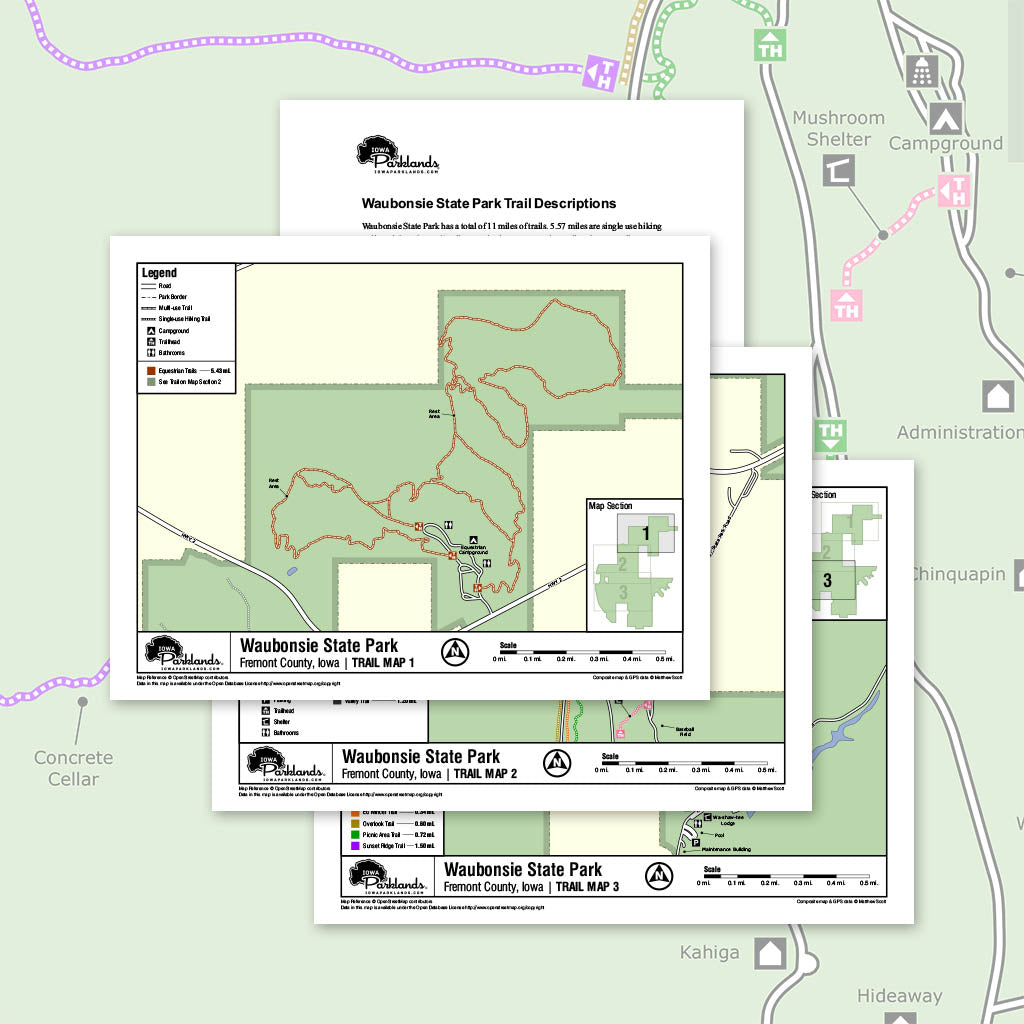 Waubonsie State Park Trail Map Printable Download