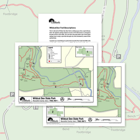 Wildcat Den State Park Trail Map Printable Download