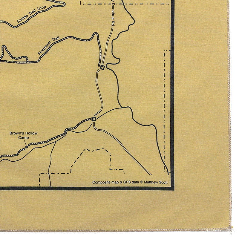 Yellow River State Forest Trail Map Bandanna - Iowa Parklands