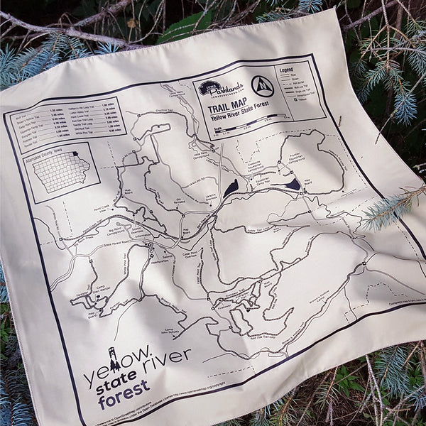 Yellow River State Forest Trail Map Bandanna