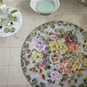 GRANDIFLORA ROSE EPICE ROUND RUG Floral Multi-Coloured