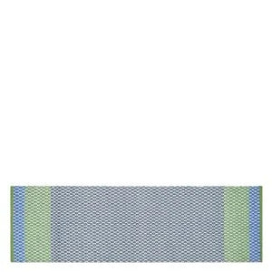 CORTEZ COBALT RUNNER RUG Striped Blue & Green
