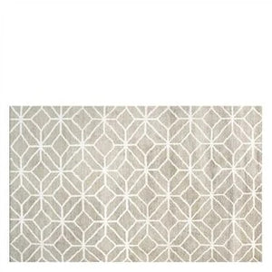 CARETTI LINEN RUG Geometric Neutral Bamboo