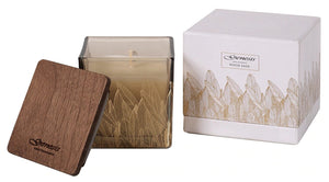WOOD SAGE SQUARE SMALL CANDLE - GEN010
