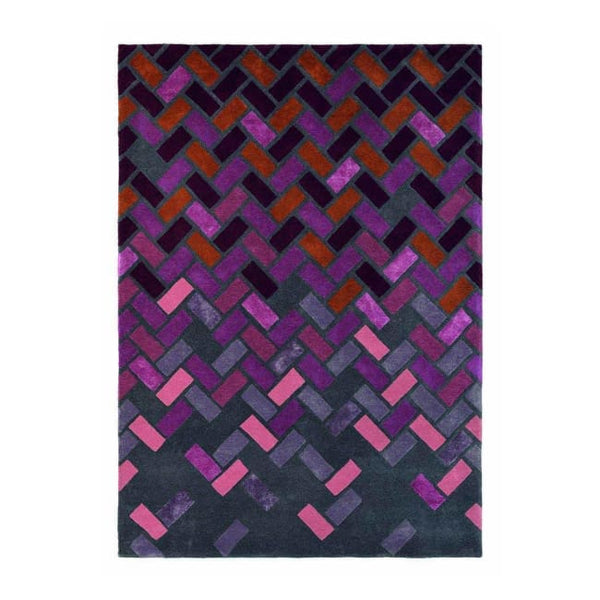 Agave Deep Purple Rug - Ted Baker (Large 200 X 280Cm) - Rugs