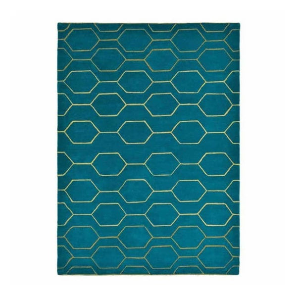 Arris Teal Rug - Wedgwood Rugs (Large 200 X 280Cm) - Rugs