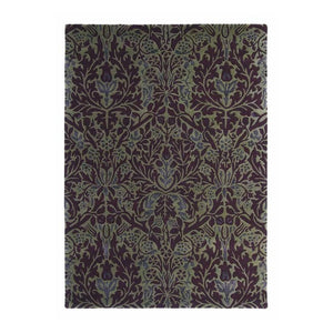 Autumn Flowers Plum Rug - Moriss & Co (Large 200 X 280Cm) - Rugs