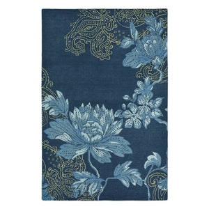 Fabled Floral Navy Rug - Wedgwood Rugs (Large 200 X 280Cm) - Rugs