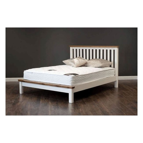 Manhattan- Bed - 60 (5Ft) Cream & Oak - Furniture