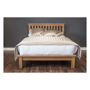 Manhattan- Bed - 72 (6Ft) Oak - Furniture