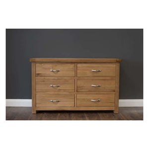 Manhattan- Chest - 6 Drawers - Oak - Furniture
