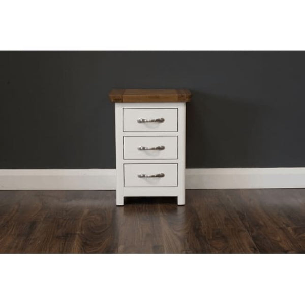 Manhattan- Locker - 3 Drawers - Cream & Oak - Furniture